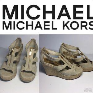 Michael Kors Platform Beige  Sandals.Size 9